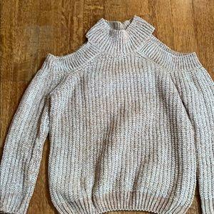 Elan cold shoulder sweater